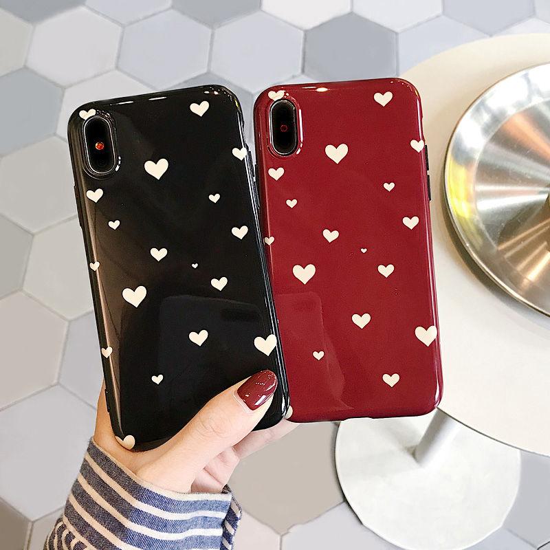 【N243】★ iPhone 6 / 6sPlus / 7 / 7Plus / 8 / 8Plus / X /XS /XR/Xs max★ シェルカバーケース Love