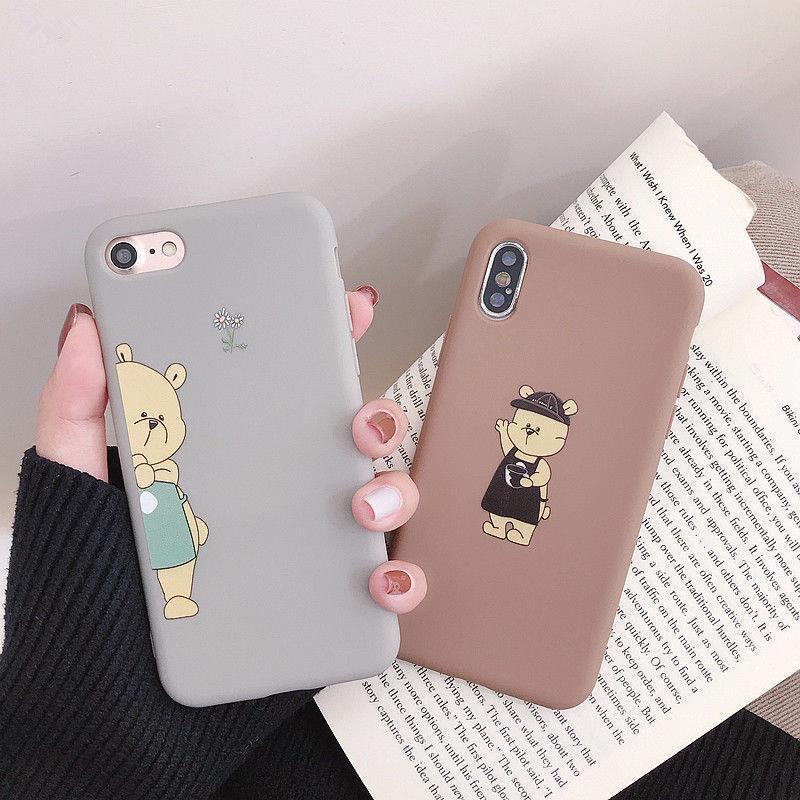 【N263】★ iPhone 6s / 6sPlus / 7 / 7Plus / 8 / 8Plus / X / Xs ★  iPhone ケース Bear