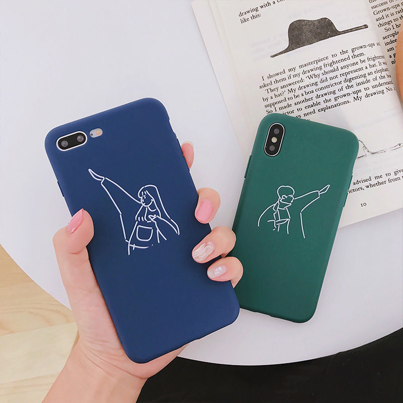 【M945】★ iPhone 6 / 6sPlus / 7 / 7Plus / 8 / 8Plus / X/XS /XR/XSMAX★ シェルカバー ケースCouple case