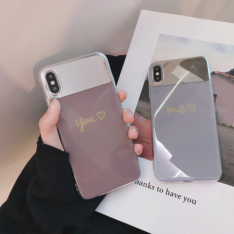 【N356】★ iPhone 6 / 6sPlus / 7 / 7Plus / 8 / 8Plus / X /XS /XR/Xs max★ シェルカバーケース You and Me