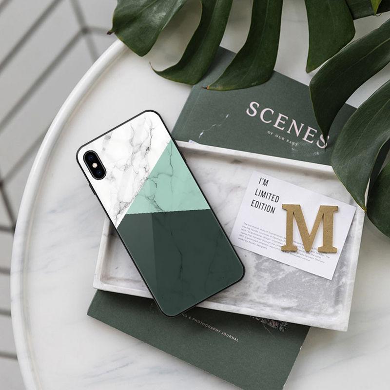 【N162】★ iPhone 6 / 6s / 6Plus / 6sPlus / 7 / 7Plus / 8 / 8Plus / X ★ シェルカバー ケース Marble Green オトナ