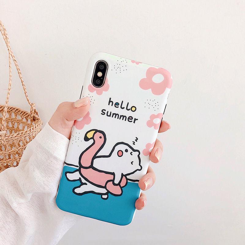 【N570】★iPhone 6 / 6s / 6Plus / 6sPlus / 7 / 7Plus / 8 / 8Plus / X / Xs ★iPhone ケース HELLO Summer