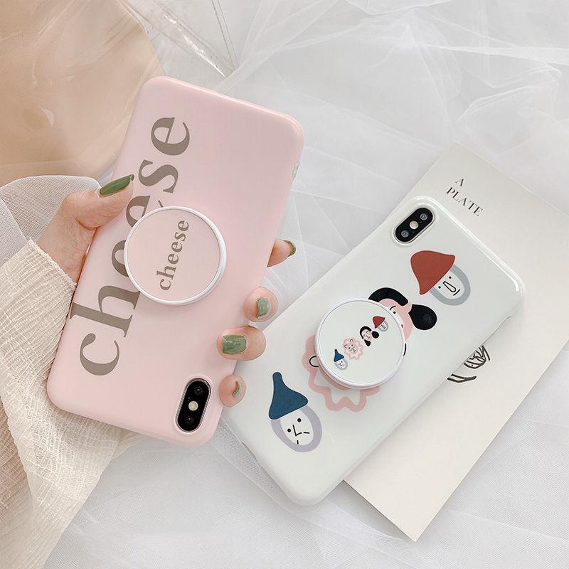 【N408】★ iPhone 6 / 6sPlus / 7 / 7Plus / 8 / 8Plus / X /XS /XR/Xs max★ シェルカバーケース リング付き