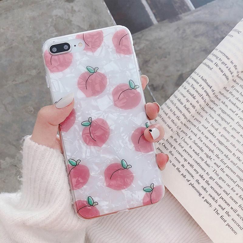 【N150】★ iPhone 6 / 6sPlus / 7 / 7Plus / 8 / 8Plus / X/ XS / Xr /Xsmax ★ シェルカバース  Peach