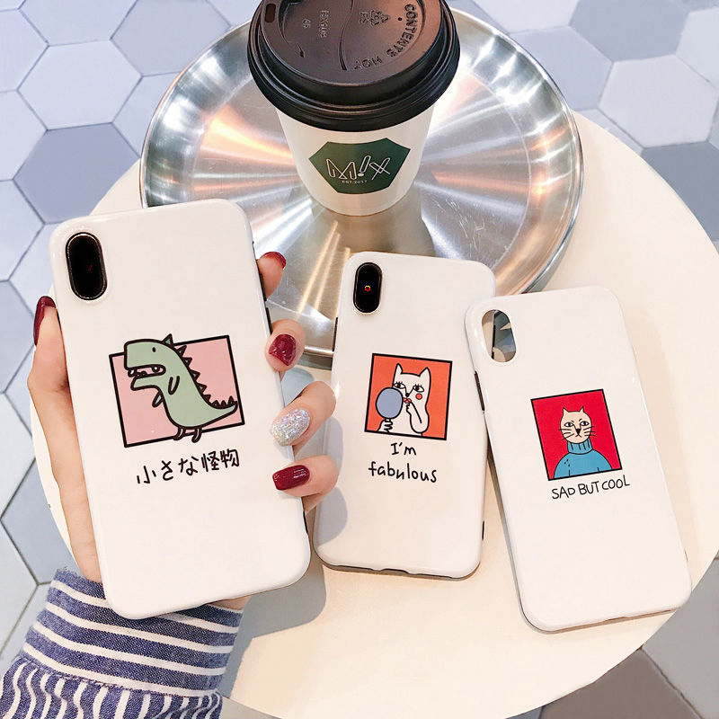 【M920】★ iPhone 6 / 6s / 6Plus / 6sPlus / 7 / 7Plus / 8 / 8Plus / X ★ シェルカバーケース Drawing 可愛い