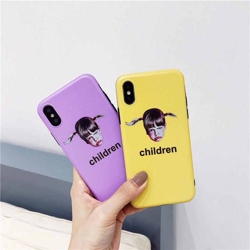 【M579】★ iPhone 6 / 6s / 6Plus / 6sPlus / 7 / 7Plus / 8 / 8Plus / X ★ シェルカバーケース  お洒落 カラー Children