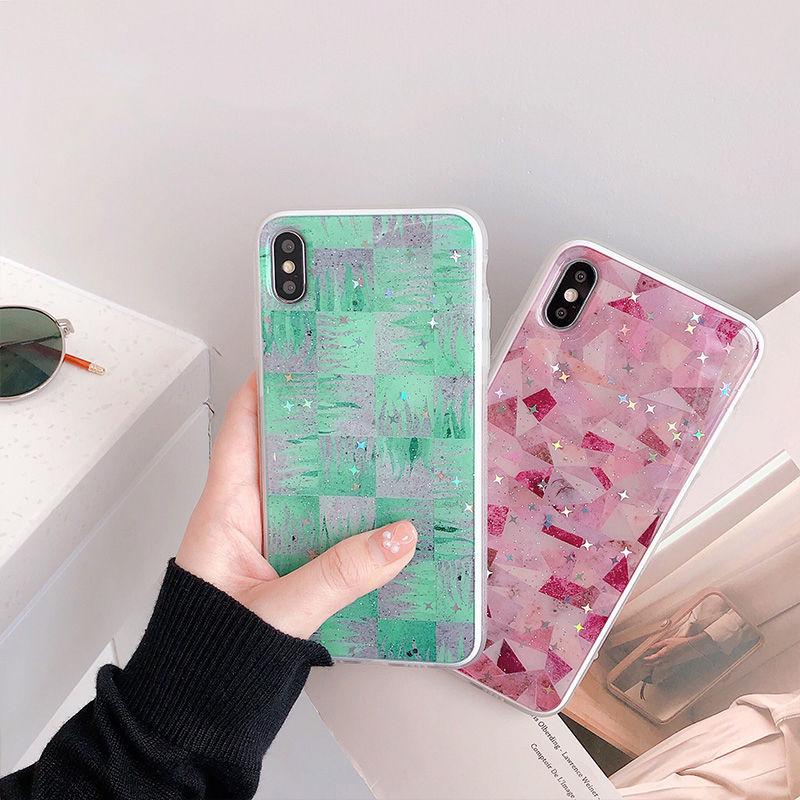 【N490】★ iPhone 6 / 6sPlus / 7 / 7Plus / 8 / 8Plus / X /XS /XR/Xs max★ シェルカバーケースGlitter