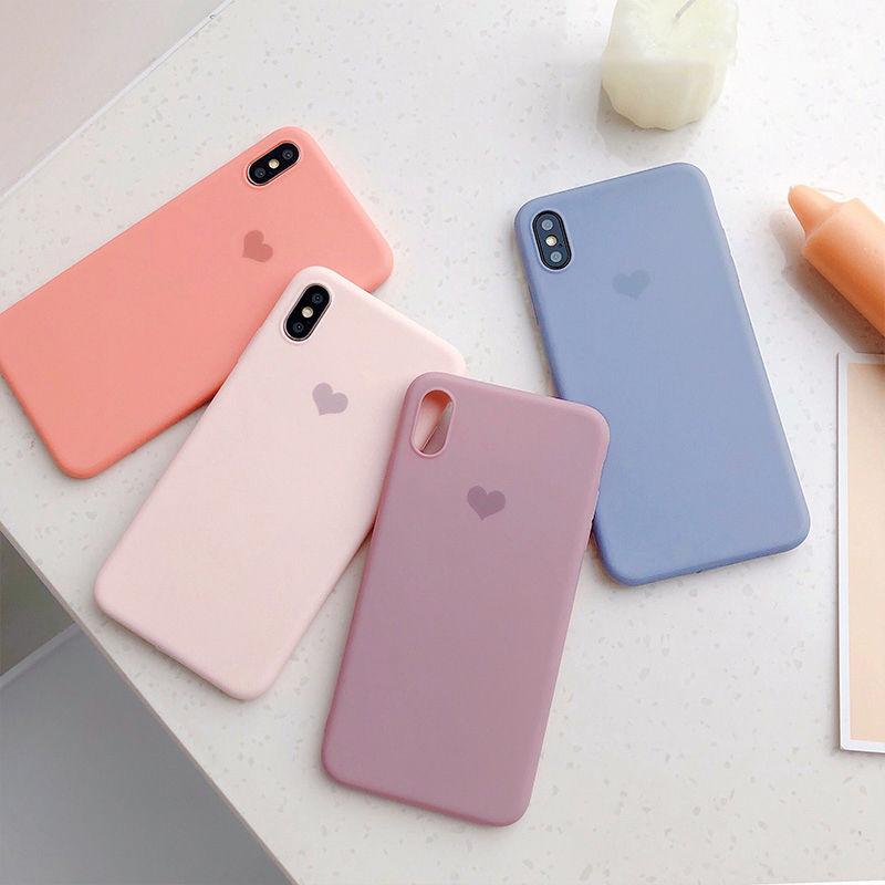 【N250】★ iPhone 6 / 6s / 6Plus / 6sPlus / 7 / 7Plus / 8 / 8Plus / X/XS ★ シェルカバー ケース ハート 人気 Morandi