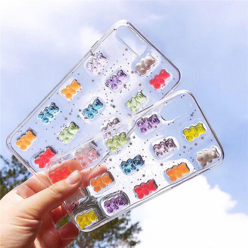 【M701】★ iPhone 6 / 6sPlus / 7 / 7Plus / 8 / 8Plus / X /Xs/Xr/Xsmax★ シェルカバーケース colorful bear