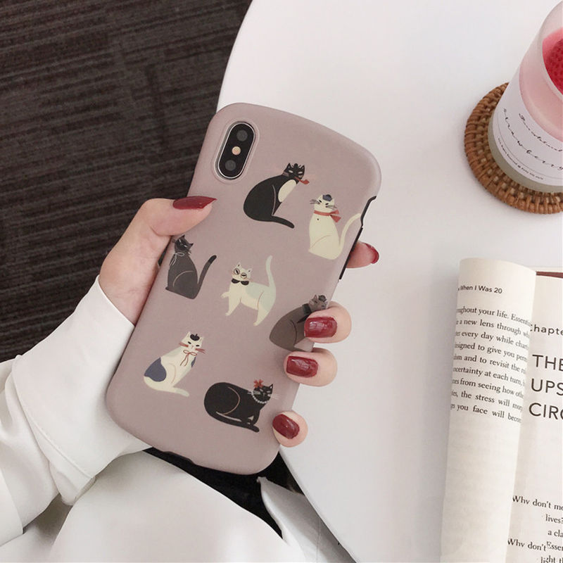 【N532】★iPhone 6 / 6s / 6Plus / 6sPlus / 7 / 7Plus / 8 / 8Plus / X / Xs ★iPhone ケース ネコ