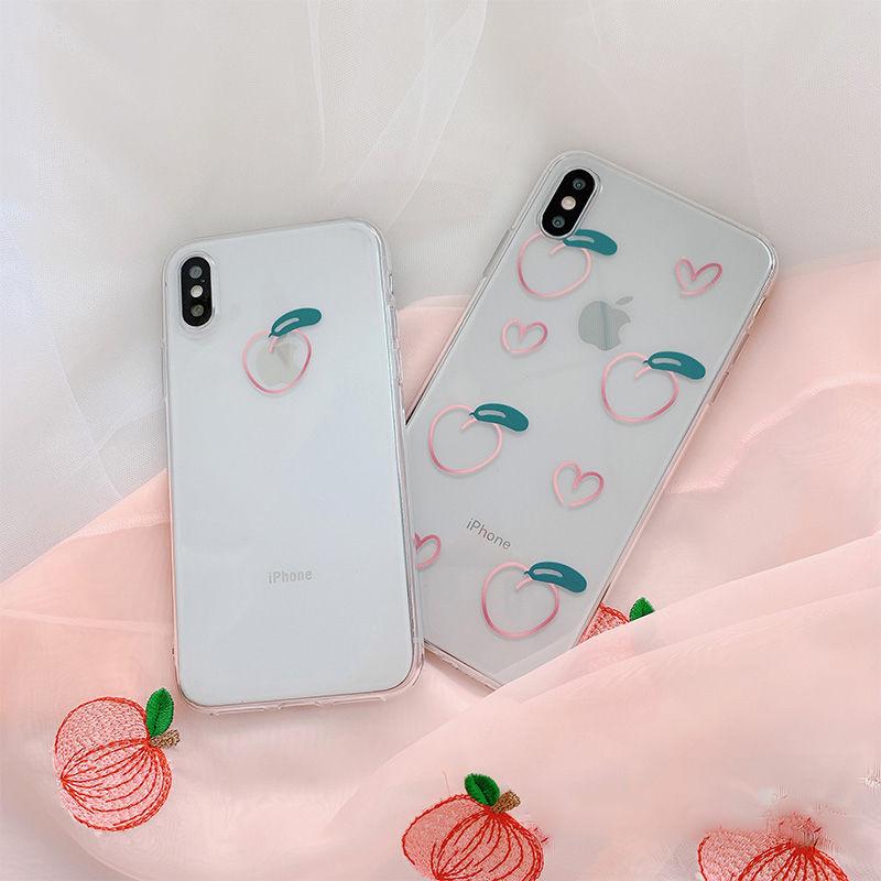 【N349】★ iPhone 6 / 6sPlus / 7 / 7Plus / 8 / 8Plus / X /XS /XR/Xs max★ シェルカバーケース Peach