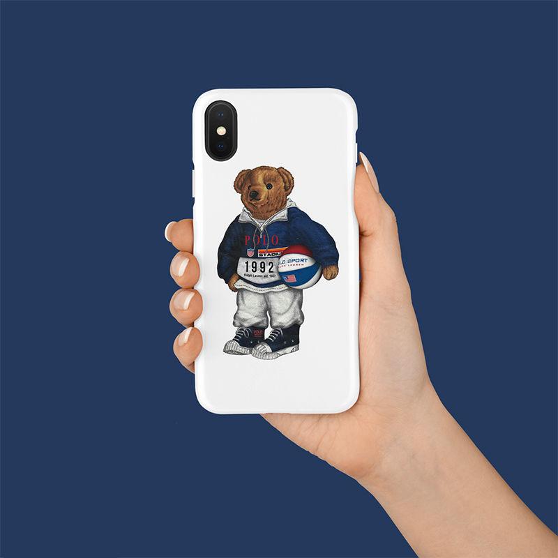 【M869】★ iPhone 6 / 6sPlus / 7 / 7Plus / 8 / 8Plus / X / Xs / Xr / Xs Max ★ シェルカバー ケース MR Bear 可愛い