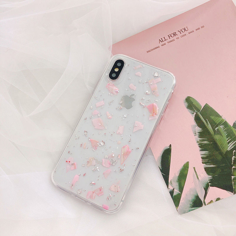 【N333】★ iPhone 6 / 6sPlus / 7 / 7Plus / 8 / 8Plus / X /XS /XR/Xs max★ シェルカバーケース  Shell Glitter