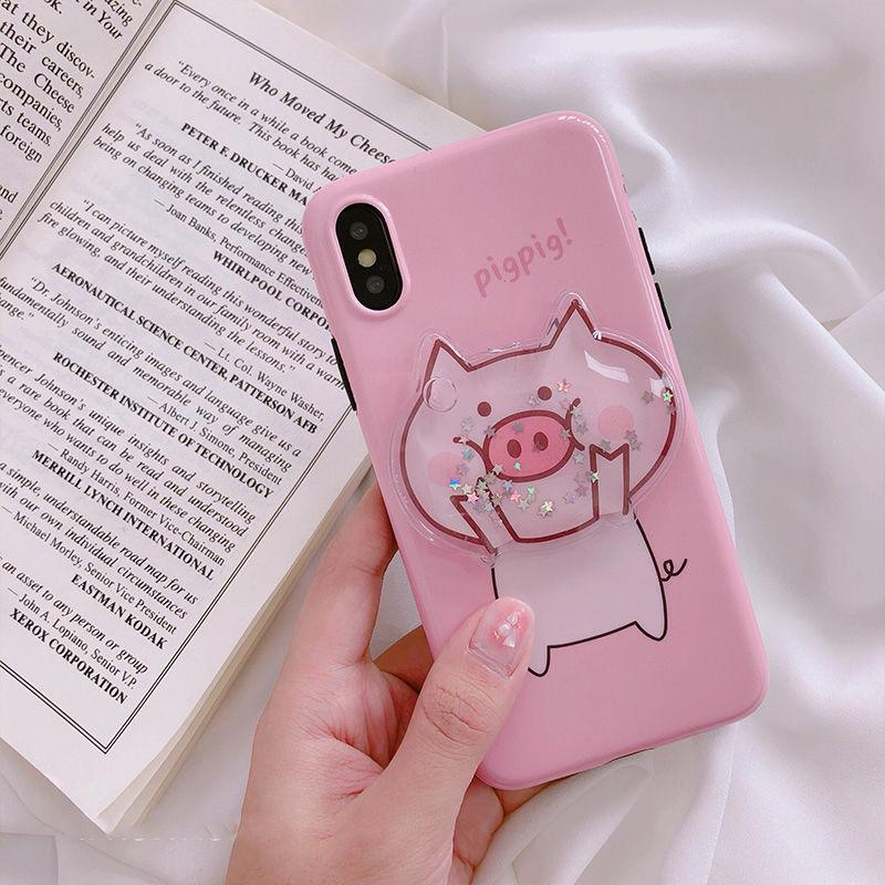 【M825】★ iPhone 6 / 6s / 6Plus / 6sPlus / 7 / 7Plus / 8 / 8Plus / X ★ シェルカバー ケース Pink Piggy