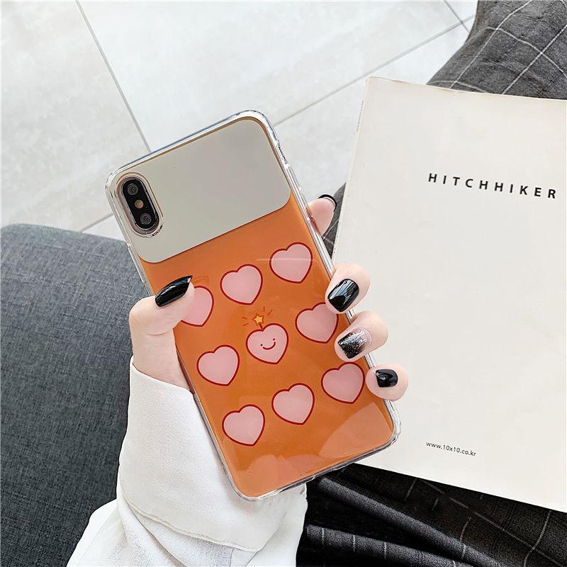 【N446】★iPhone 6 / 6s / 6Plus / 6sPlus / 7 / 7Plus / 8 / 8Plus / X / Xs ★iPhone ケース Mirror heart