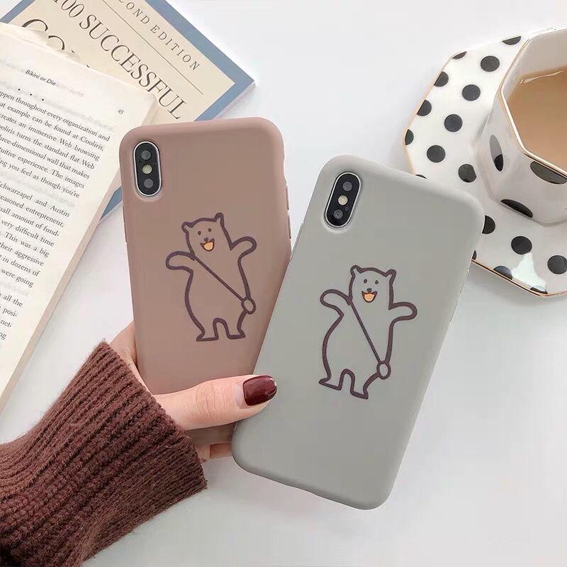 【N106】★ iPhone 6 / 6sPlus / 7 / 7Plus / 8 / 8Plus / X/XS / Xr /Xsmax ★ シェルカバー ケース bear bear