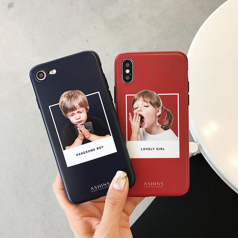 【M812】★ iPhone 6 / 6sPlus / 7 / 7Plus / 8 / 8Plus / X / Xs / XR / Xs max ★ シェルカバー ケース  可愛い Boy  Girl