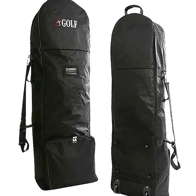 宅配時の汚れ防止 ゴルフバッグをすっぽりカバー ゴルフ トラベルカバー キャスター付 9.5インチ  軽量 キャディバッグ 旅行 トラベルバッグ
