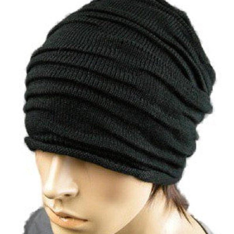 ざっくり ニット帽 おしゃれなシワ加工 男女兼用 シワ加工  帽子 フリーサイズ
