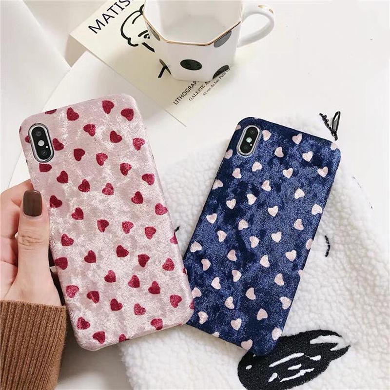 Mini Heart Velvet iPhone case