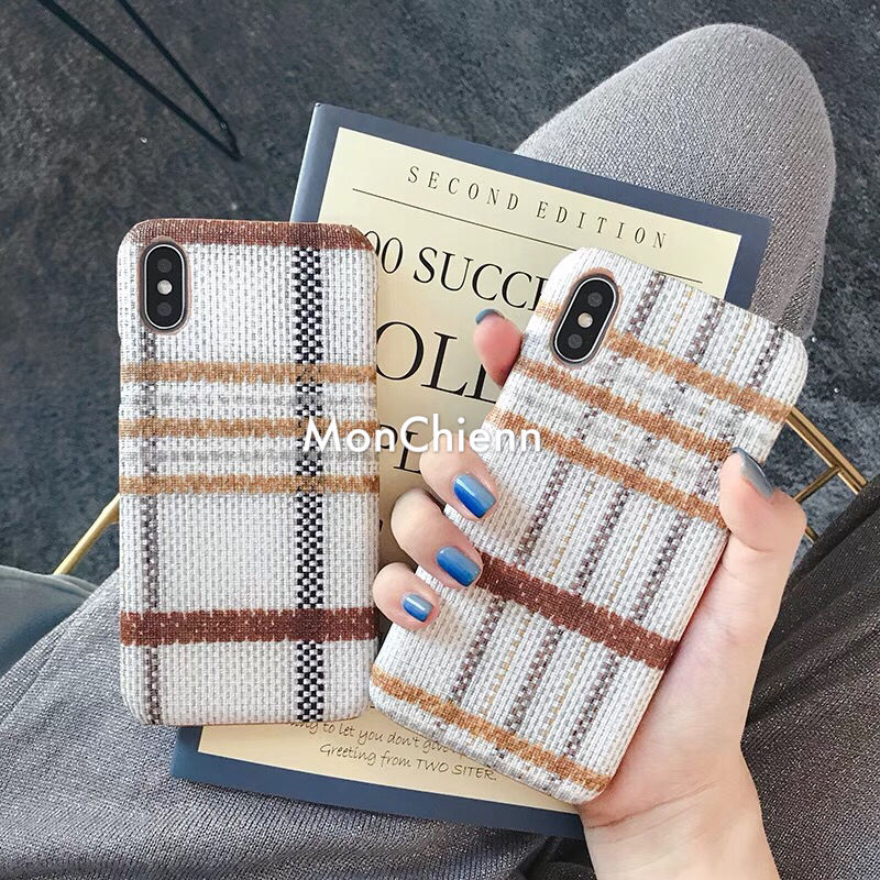 Autumn checked design iPhone case