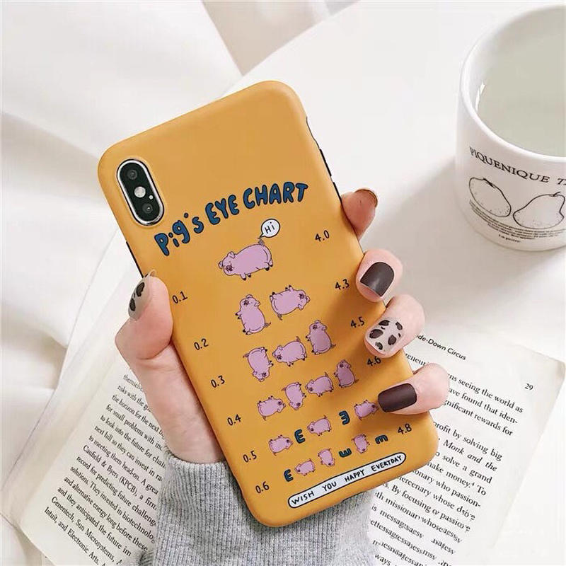Pig's Eye Chart iPhone case
