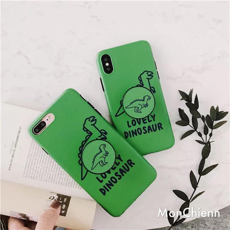 Green Dinasour with Clip iPhone case