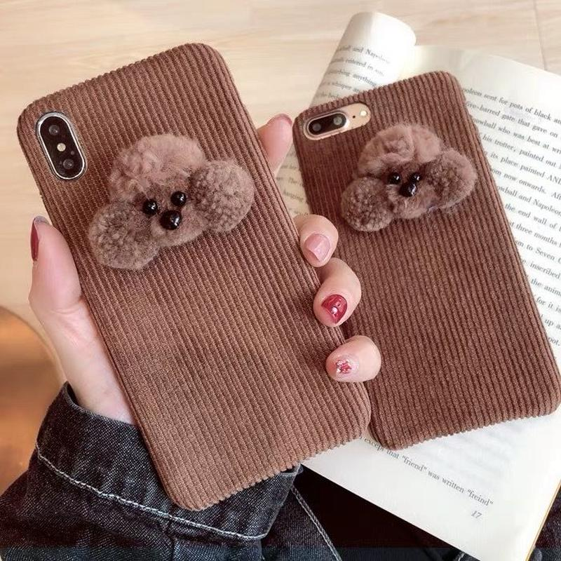 Poodle Fabric iPhone case