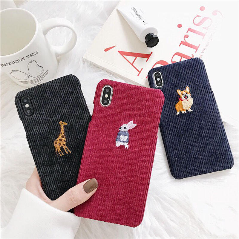 Animal Fabric Embroidery iPhone case
