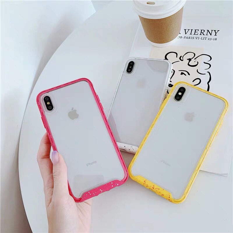 Red Yellow White Color Frame iPhone case