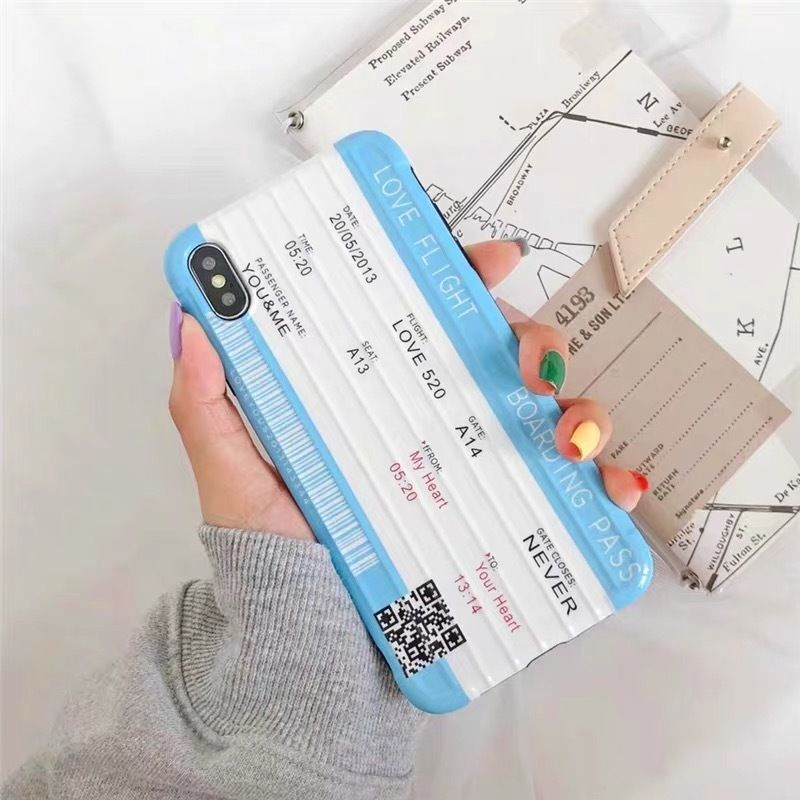 Love Flight Boarding Pass iPhone case