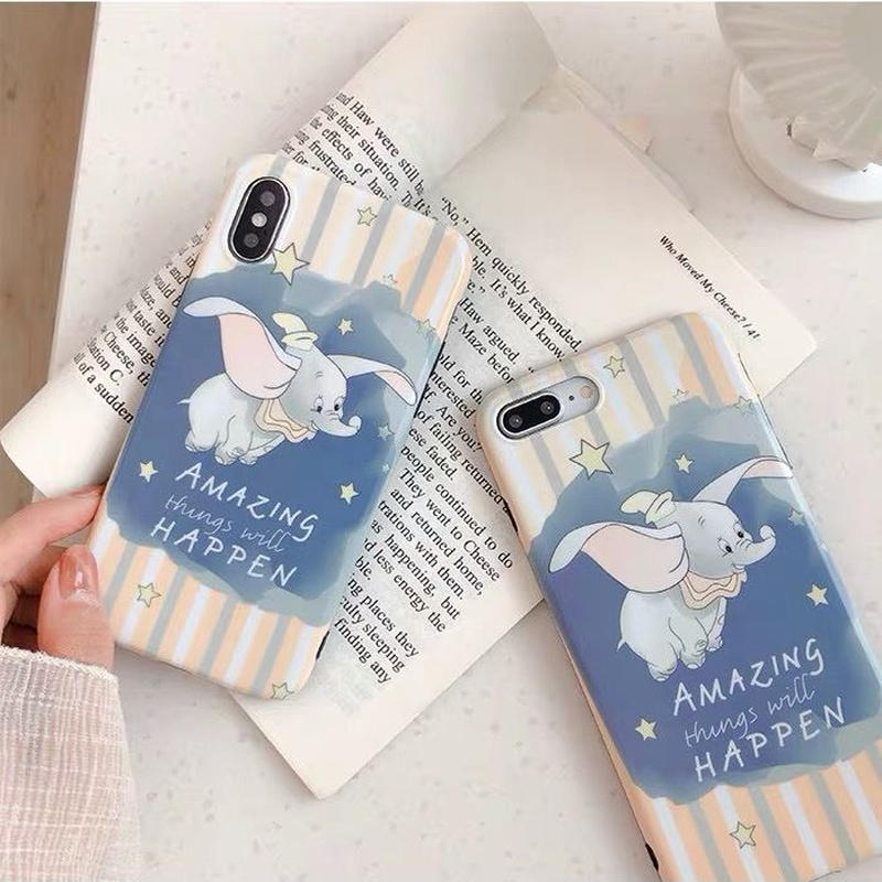 【Disney】Dumbo Pastel Strip iPhone case