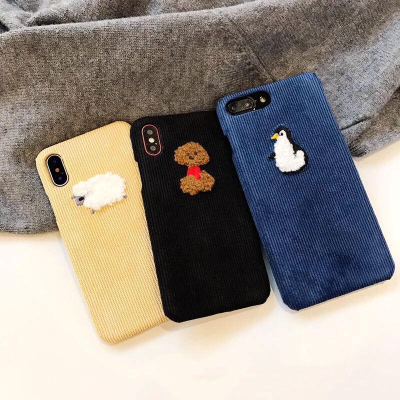 Corduroy Animal iPhone case