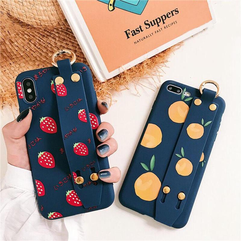 Strawberry orange strap designed iPhone case
