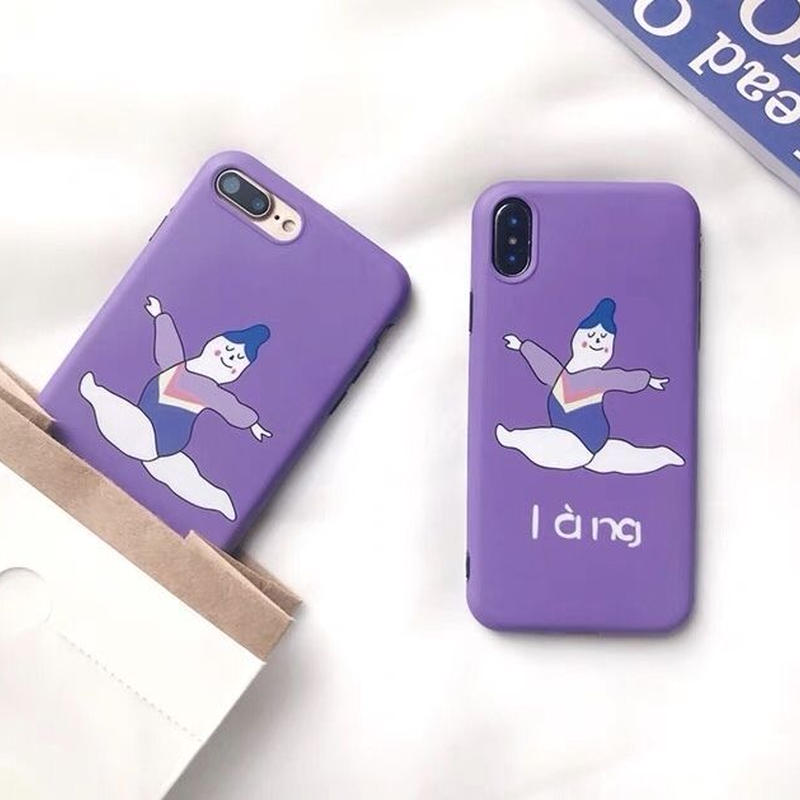 Purple Ballerina iPhone case