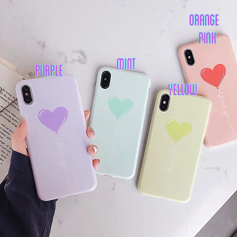 Pastel Heart Balloon iPhone case