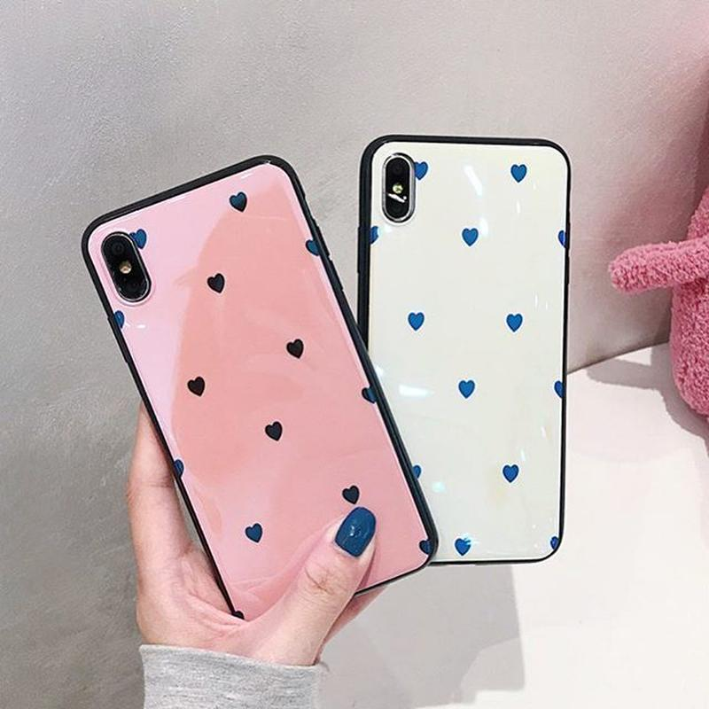 Laser Pink Creme Hearts iPhone case