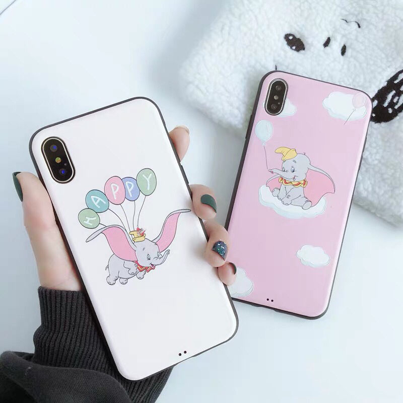 【Disney】Dumbo Pink White iPhone case