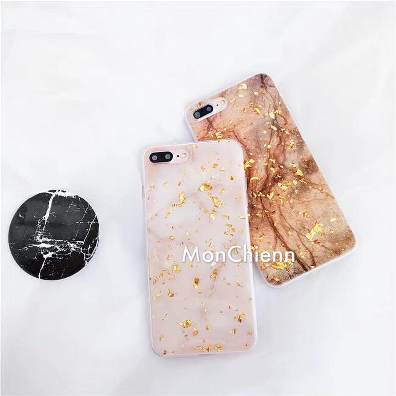 Golden Marbling design iphone case