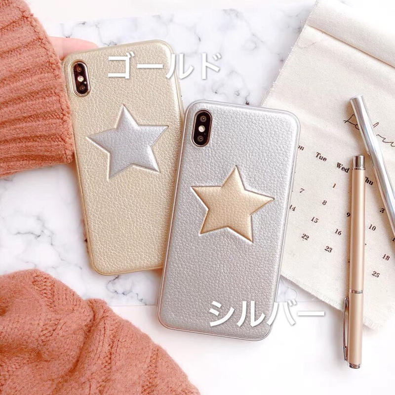 Leather Star iPhone case