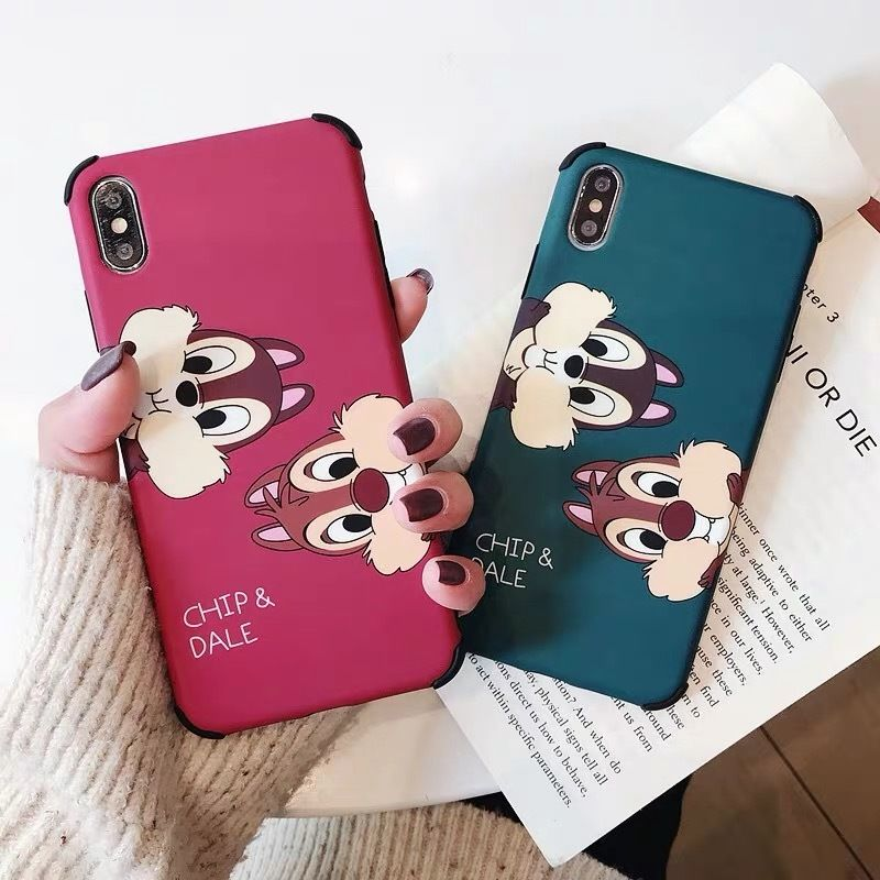 【Disney】Red Green Chip 'n' Dale iPhone case