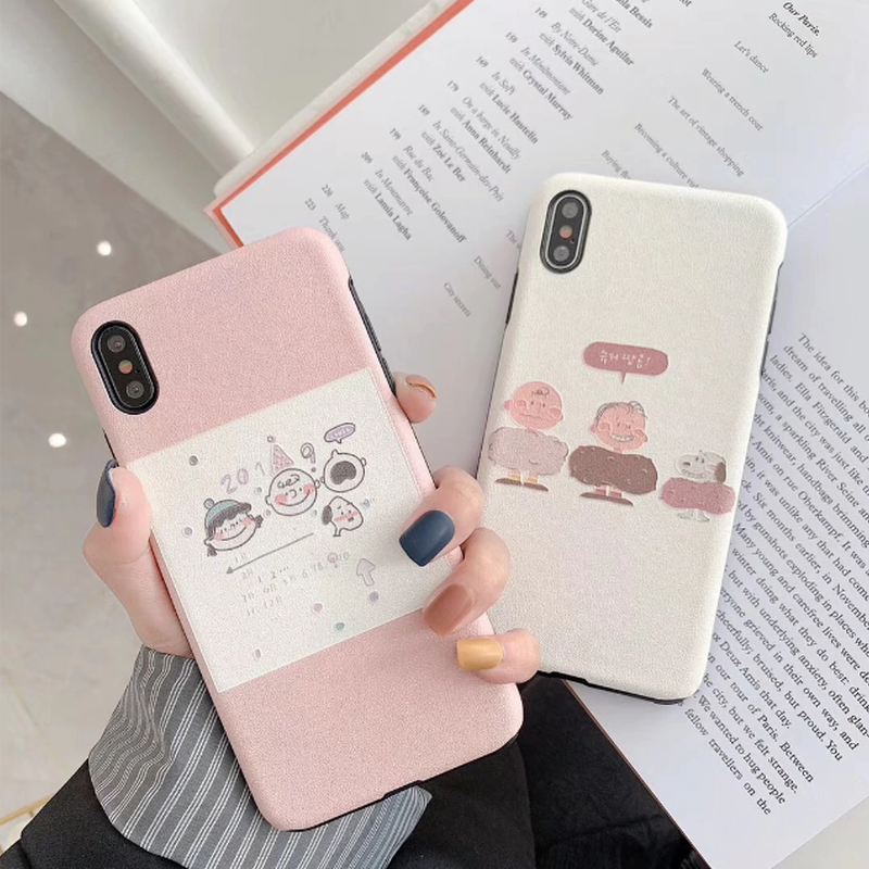 White Pink Peanuts Family iPhone case