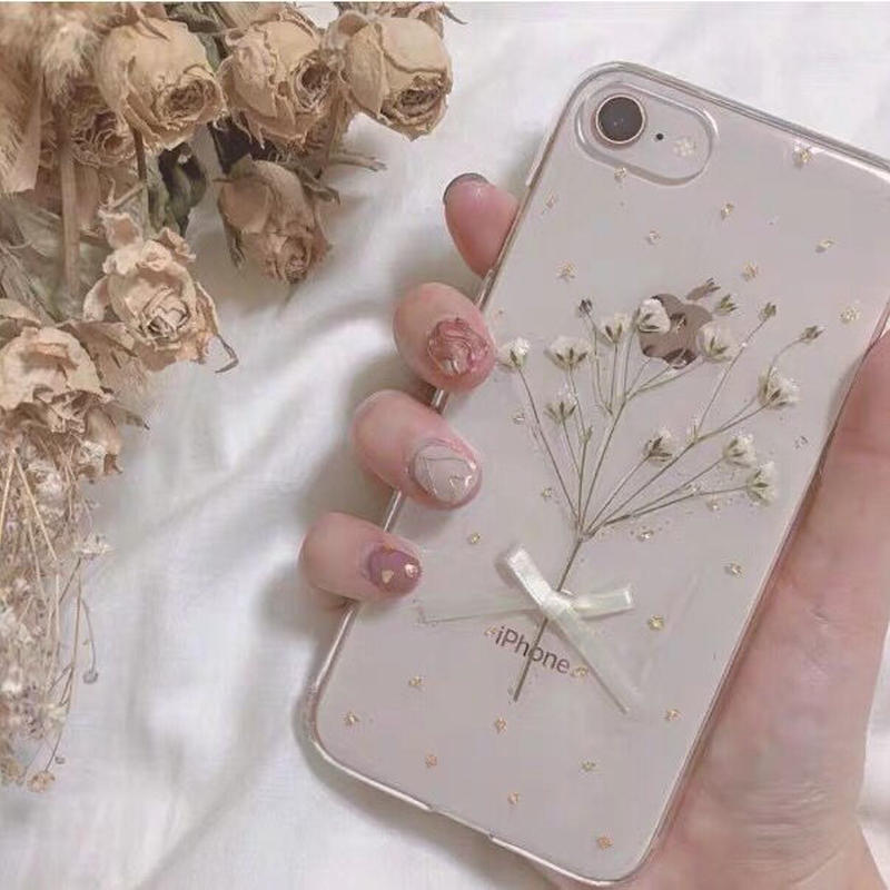 Gypsophila White Bouqute iPhone case