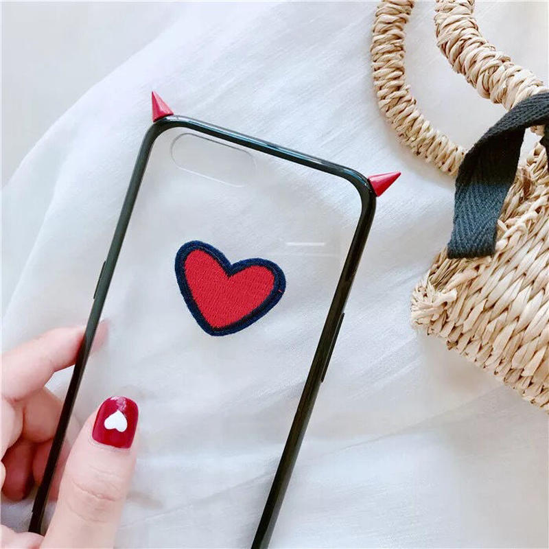 Devil's Red Heart iPhone case