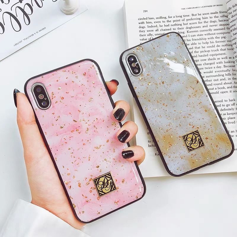 Golden Pink Marble iPhone case