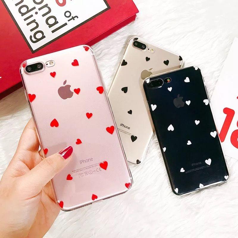 Mini Hearts Clear iPhone case
