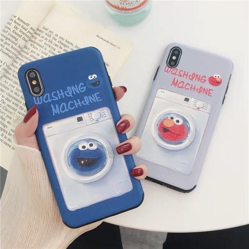 Elmo Cookie Monster Washing Machine iPhone case