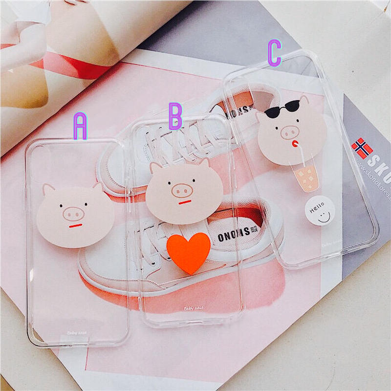 Piggy Head Clear iPhone case