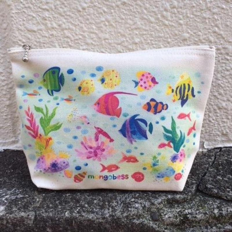 キャンバスマチありポーチ☆熱帯魚