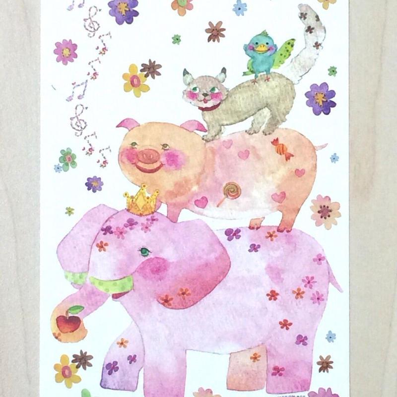 ポストカード〈バラ売り〉 ブターメン_PC-Y117